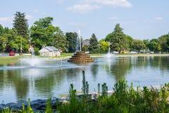 Fotvandra område i bagaren Park i Frederick, Maryland royaltyfria foton