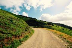 Fotvandra på den Cuesta kvaliteten av huvudväg 101 Fotografering för Bildbyråer