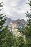 Fotvandra på monteringen Brunni på Engelberg i de schweiziska fjällängarna arkivfoto