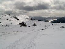 Fotvandra på vinter Royaltyfria Foton