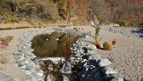 Fotvandra skuggar i bergen som landskap, höstnatur Royaltyfri Fotografi