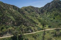Fotvandra slingan i Kalifornien kullar Royaltyfria Bilder