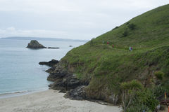Fotvandra slingan på ön av hermen Royaltyfria Bilder