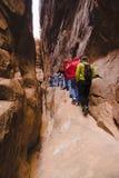 fotvandra smal trail Fotografering för Bildbyråer