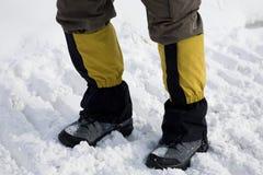 fotvandra snow för fält royaltyfria bilder