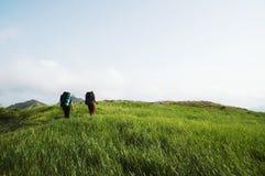 fotvandra sommar Fotografering för Bildbyråer
