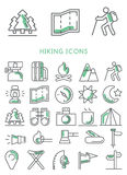 Fotvandra symbolsuppsättningen stock illustrationer