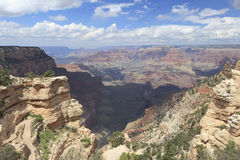 Fotvandra trail i grand Canyon Arkivbild