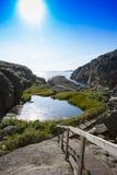 Fotvandra trail i sweden 2 Arkivbilder
