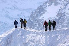 fotvandra vinter Fotografering för Bildbyråer