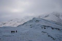 fotvandra vinter Arkivfoto