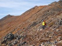 Fotvandrare i Yukon Royaltyfri Foto
