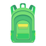 fotvandrare schoolbag stock illustrationer