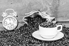 Fou dans l'amour avec du café Photographie stock
