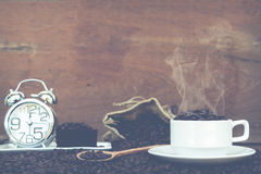 Fou dans l'amour avec du café Images libres de droits