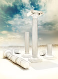 Fou Ruined Columns In Greek Ionian Style Royalty Free Stock Photography