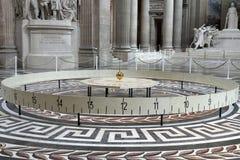 Foucault-Pendel im Pantheon, in Paris Stockfotos