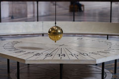 Foucault pendulum inside Paris Pantheon royalty free stock photos