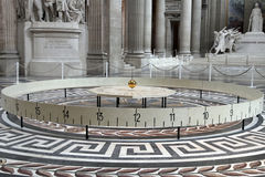 Foucault pendulum in Pantheon, in Paris Stock Photos