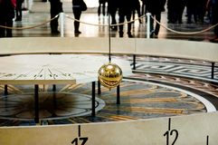 Foucault pendulum at Pantheon Stock Image