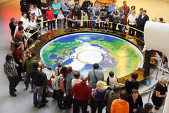 Foucault pendulum at the planetarium Royalty Free Stock Images