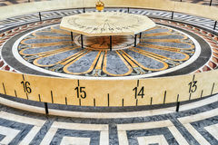 Foucault's pendulum Inside of French Mausoleum for Great People Stock Images