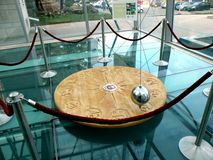 Foucault's pendulum. A model of the Foucault's pendulum in the hall of the University Stock Photography