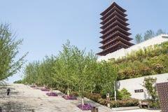 fouding (Buddha top) pagoda and stone steps Stock Photos