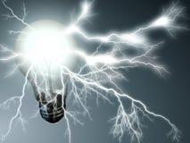 foudre d'ampoule illustration libre de droits
