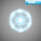 Foudre de boule, cadre rond abstrait d'effet de la lumière avec la foudre Illustration de vecteur illustration stock