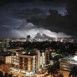Foudre de Miami Photos libres de droits
