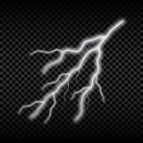 Foudre réaliste Lumière électrique lumineuse, effet rougeoyant d'orage Vecteur illustration de vecteur