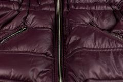 Foudre sur une veste de Bourgogne photographie stock libre de droits