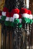 Fouets tricolores traditionnels de cuir pour des sheperds hongrois et ho Photographie stock libre de droits