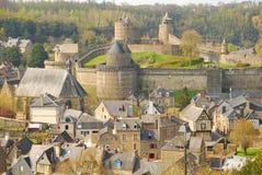 Fougères, Bretagne, Frankreich stockbilder
