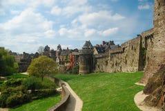 Fougères Schloss, Bretagne, Frankreich Lizenzfreies Stockbild