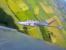 Fouga CM175 patrol flight stock photo