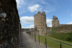 Fougere Castle. Scenic view of Fougere Castle in France showing tower and battlements Stock Images