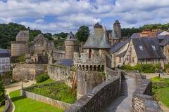 Fougeres城堡在布里坦尼法国 库存照片