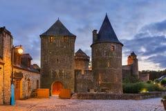 Fougeres城堡在布里坦尼-法国 免版税库存照片