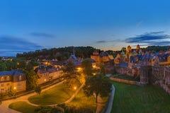 Fougeres城堡在布里坦尼-法国 免版税图库摄影