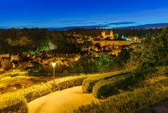 Fougeres城堡在布里坦尼-法国 免版税库存图片