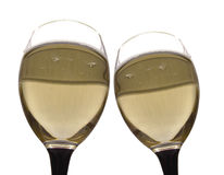 Fougeres avec le champagne. Photos stock