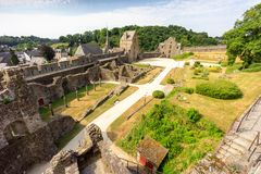 Fougeres castle in Bretagne royalty free stock photos