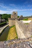 Fougeres castle in Bretagne royalty free stock images