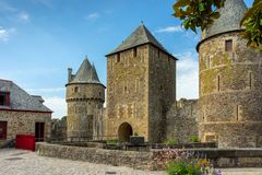 Fougeres castle in Bretagne stock image