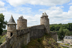 Fougeres castle in France Stock Image