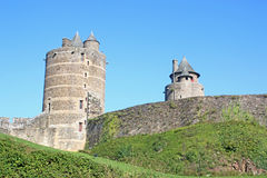 Fougeres castle, France Stock Photos