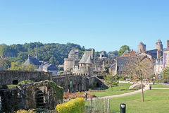 Fougeres Castle Stock Photo