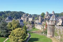 Fougeres Castle Stock Photos